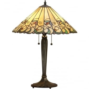 Tiffany Glass Jamelia medium table lamp