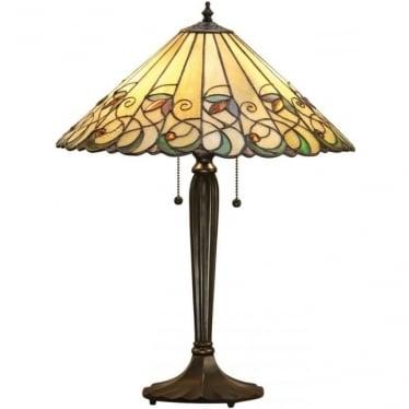 Tiffany Glass Jamelia medium table lamp