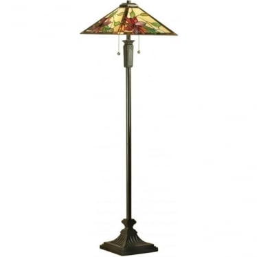 Tiffany Glass Lelani floor lamp