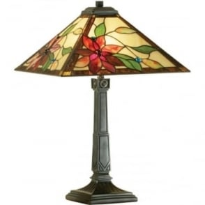 Tiffany Glass Lelani medium table lamp