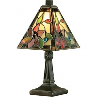 Tiffany Glass Lelani mini table lamp