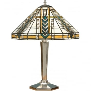 Tiffany Glass Lloyd medium table lamp - Polished aluminium