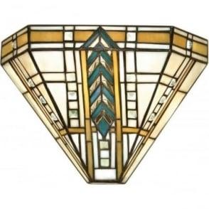 Tiffany Glass Lloyd single light wall fitting