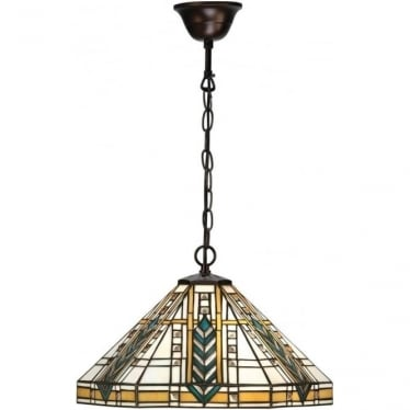 Tiffany Glass Lloyd single pendant
