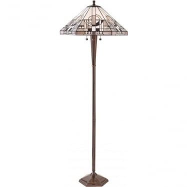 Tiffany Glass Metropolitan floor lamp - brass