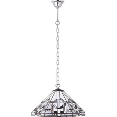 Tiffany Glass Metropolitan medium Single pendant - aluminium