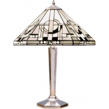 Tiffany Glass Metropolitan medium table lamp - aluminium