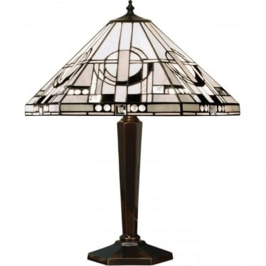 Tiffany Glass Metropolitan medium table lamp - Brass