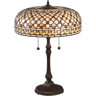 Tiffany Glass Mille Feux large table lamp