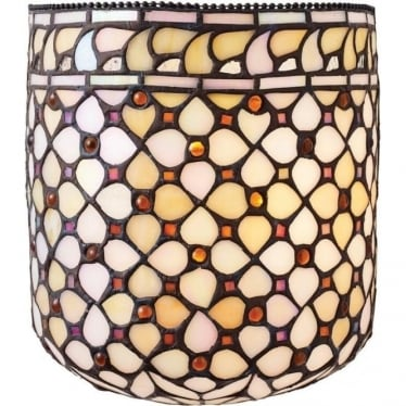 Tiffany Glass Mille Feux single wall fitting