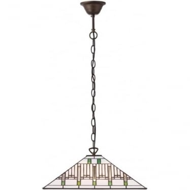 Tiffany Glass Mission medium single pendant