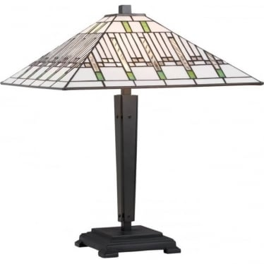 Tiffany Glass Mission Medium Table Lamp