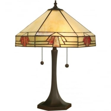 Tiffany Glass Nevada Medium Table Lamp