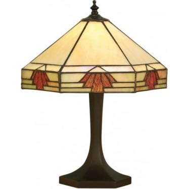 Tiffany Glass Nevada Small Table Lamp