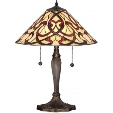 Tiffany Glass Ruban medium table lamp