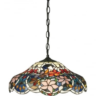 Tiffany Glass Sullivan medium single light pendant
