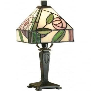 Tiffany Glass Willow mini table lamp