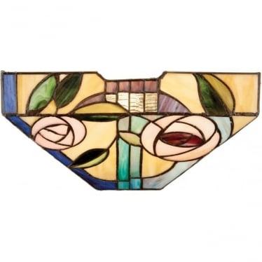 Tiffany Glass Willow single wall fitting
