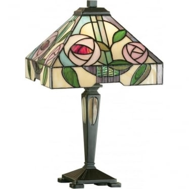 Tiffany Glass Willow small table lamp