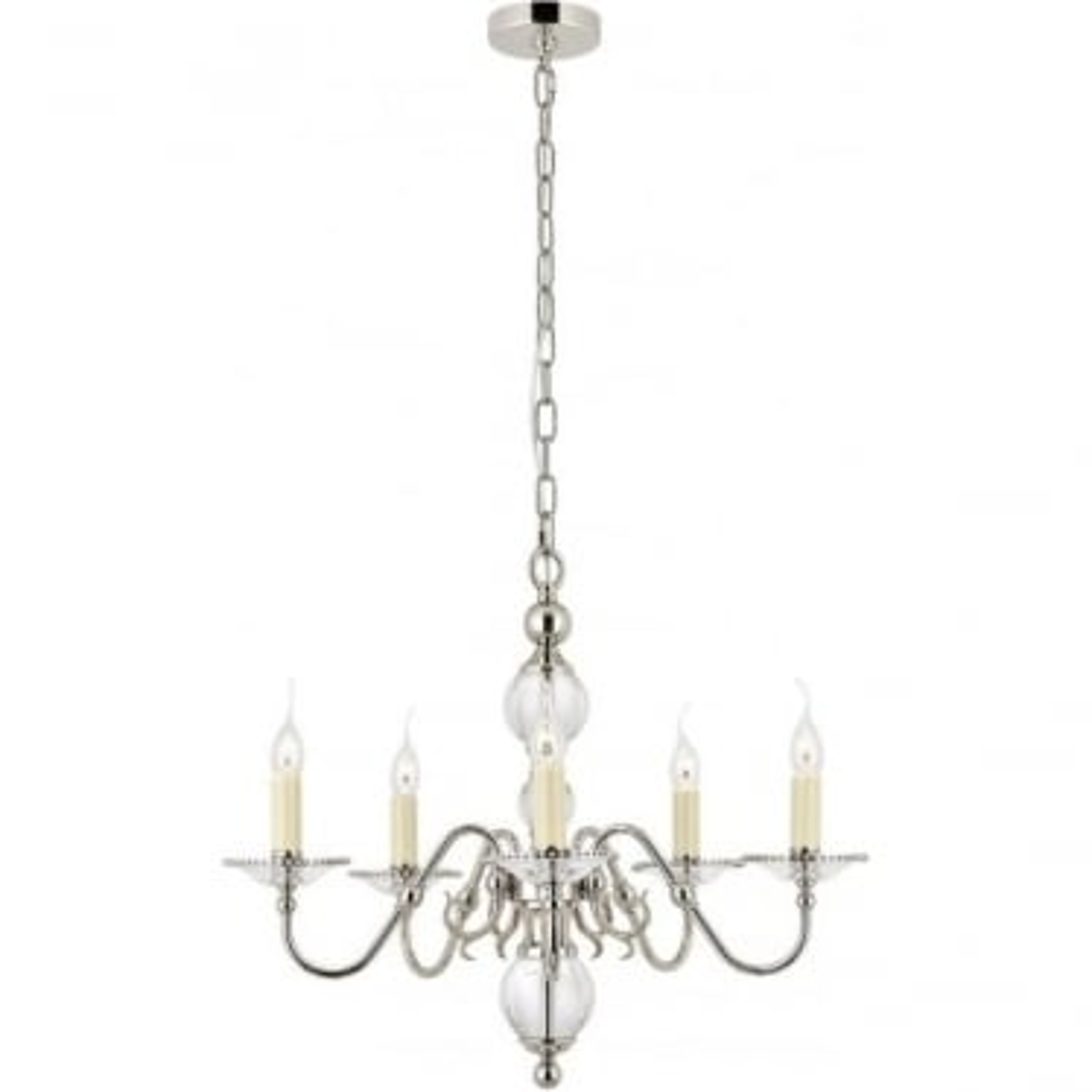 Tilburg 5 light pendant - Nickel
