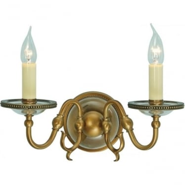 Tilburg twin wall fitting - Antique brass