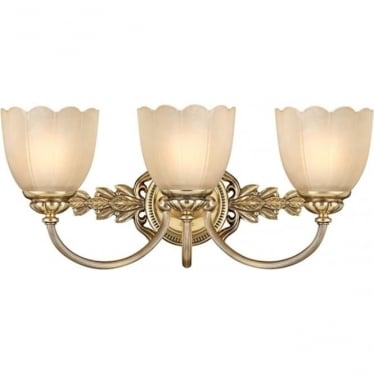 Isabella Three Light Above Mirror Fitting Brass