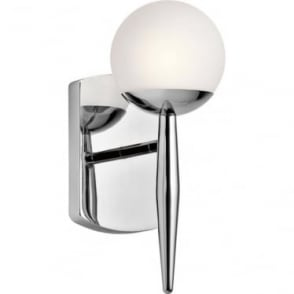 Jasper Single Light Bathroom LED Wall Light IP44 Polished Chrome