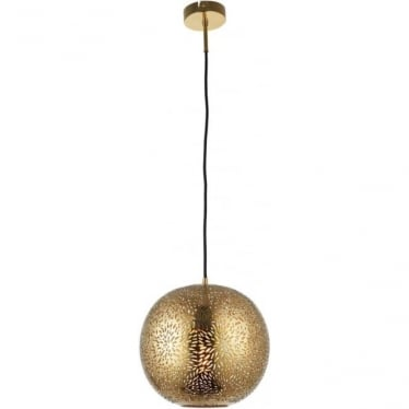 Javarone Single Pendant - Brass