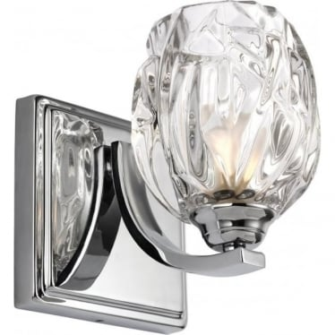Kalli Single Light Bathroom LED Wall Light IP44 Polished Chrome