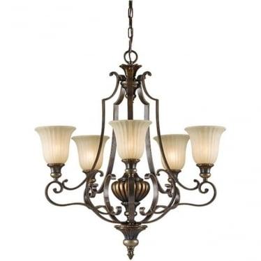 Kelham Hall Up 5 Light Chandelier Firenze Gold/British Bronze