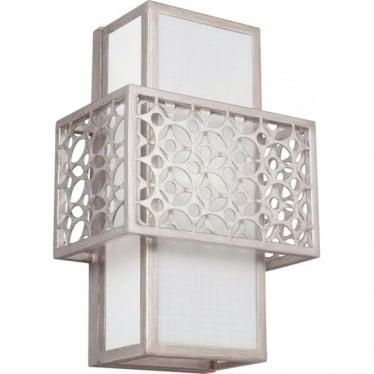 Kenney Single Light Wall Light Sunrise Silver