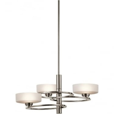 Aleeka 3 light Chandelier Classic Pewter