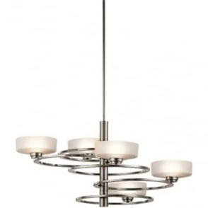 Aleeka 5 light Chandelier Classic Pewter