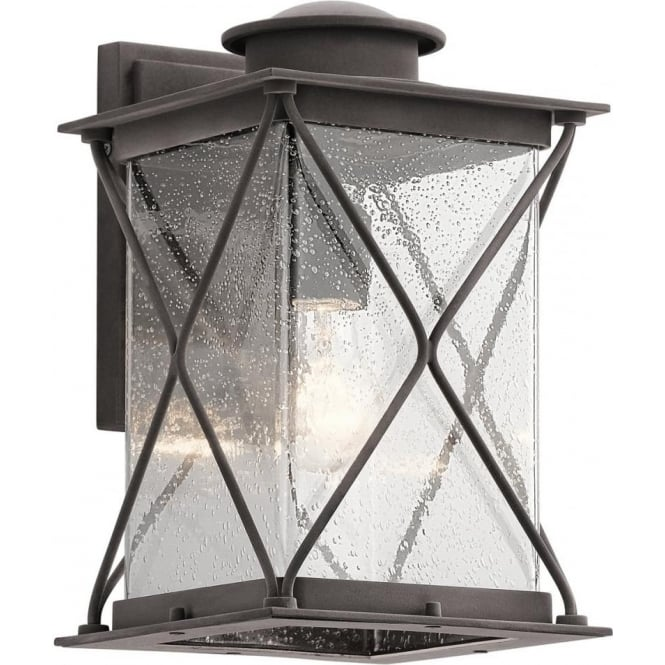Kichler Argyle Medium Outdoor Wall Light  Weathered Zinc