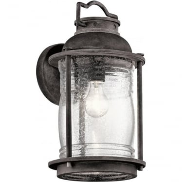 Ashland Bay Large Wall Lantern Weathered Zinc