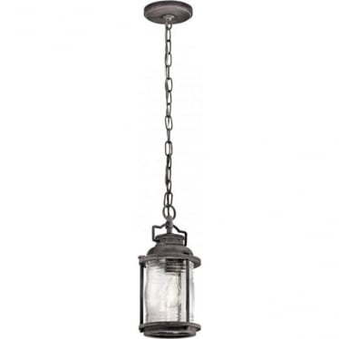 Ashland Bay Small Chain Lantern Weathered Zinc