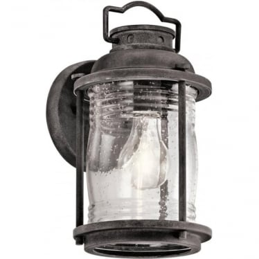 Ashland Bay Small Wall Lantern Weathered Zinc