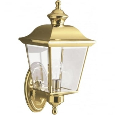 Bay Shore Medium Outdoor Wall Light Polished Brass
