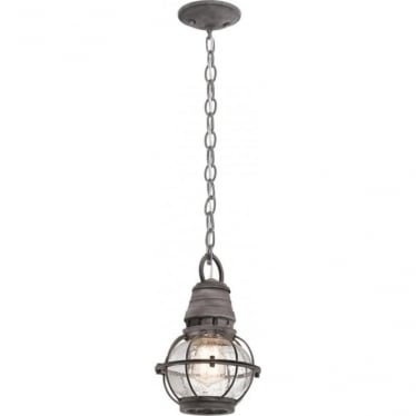 Bridge Point Small Chain Lantern Weathered Zinc