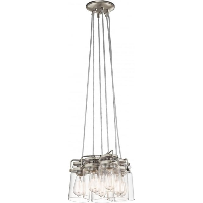 Kichler Brinley 6 Light Pendant Brushed Nickel
