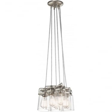Brinley 6 Light Pendant Brushed Nickel
