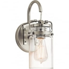 Brinley Single Wall Light Brushed Nickel