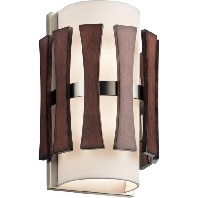 Kichler Cirus 2 Light Wall Light Auburn Stained Wood