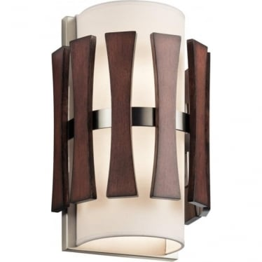 Cirus 2 Light Wall Light Auburn Stained Wood
