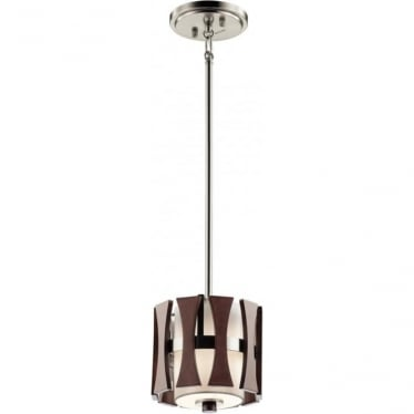 Cirus Mini Pendant Auburn Stained Wood