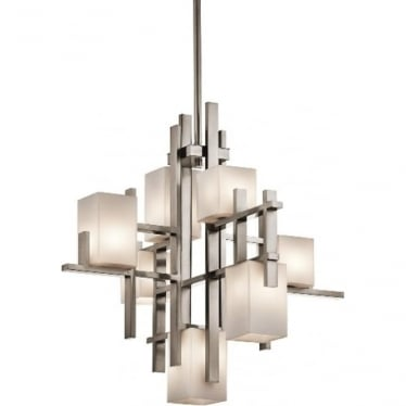 City Lights 7 light Chandelier Classic Pewter