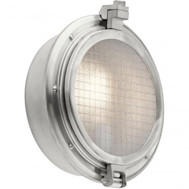 Clearpoint Single Light Outdoor Wall Light Brushed Aluminium