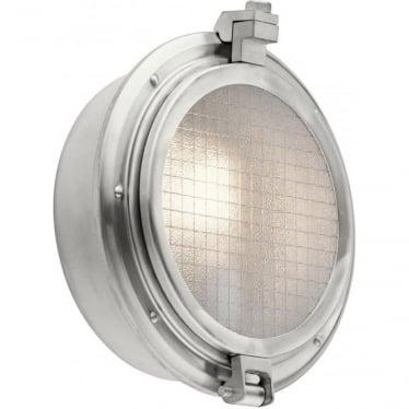 Clearpoint Single Light Outdoor Wall Light  Brushed Aluminium