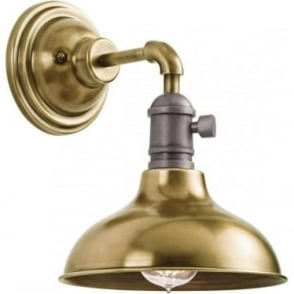 Cobson Single Mini Pendant/Wall Light  Natural Brass