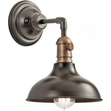 Cobson Single Mini Pendant/Wall Light Olde Bronze
